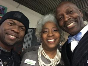 Wanda with Minister William and Jermaine Reed